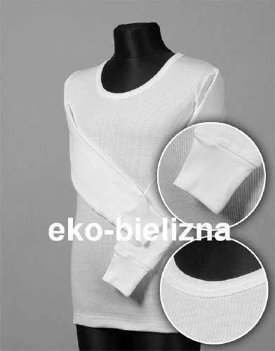 Koszulka z długim rękawem, bawełna prążkowanej od 128 do 150