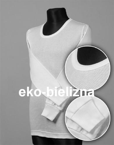 Koszulka z długim rękawem, bawełna gładka od 128 do 150