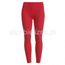 Legginsy damskie długie - Czerwone - M - L