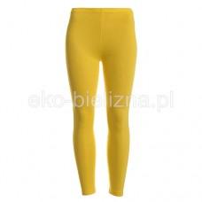 Legginsy damskie długie - Żółte - S