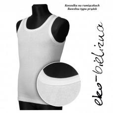 Podkoszulek na szerokich ramiączkach, bawełna prążek Biała rozm 86