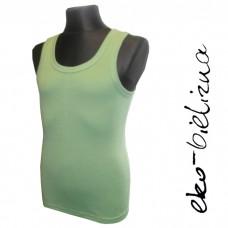 Koszulka na szerokich ramiączkach, bawełna gładka   ZIELONY JASNY  rozmiary: 110 - 152
