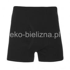 Bokserki męskie z bawełny gładkiej - Czarne