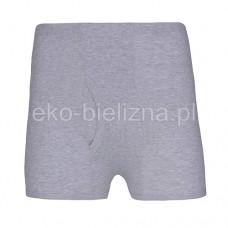 Bokserki męskie z bawełny prążkowanej - Melanż Jasny