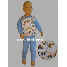 Piżamka chłopięca - Koparki Niebieska ( rozmiary: 98 ; 104 ; 110 )