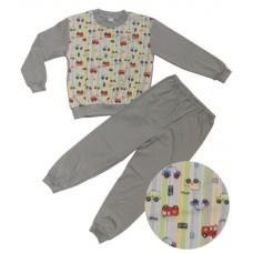 Piżamka chłopięca - Straż pożarna i policja - Szara ( rozmiary: od 86 do 122 )