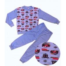 Piżamka chłopięca - Samochody wyścigowe - Niebieska ( rozmiary od 86 do 146 )